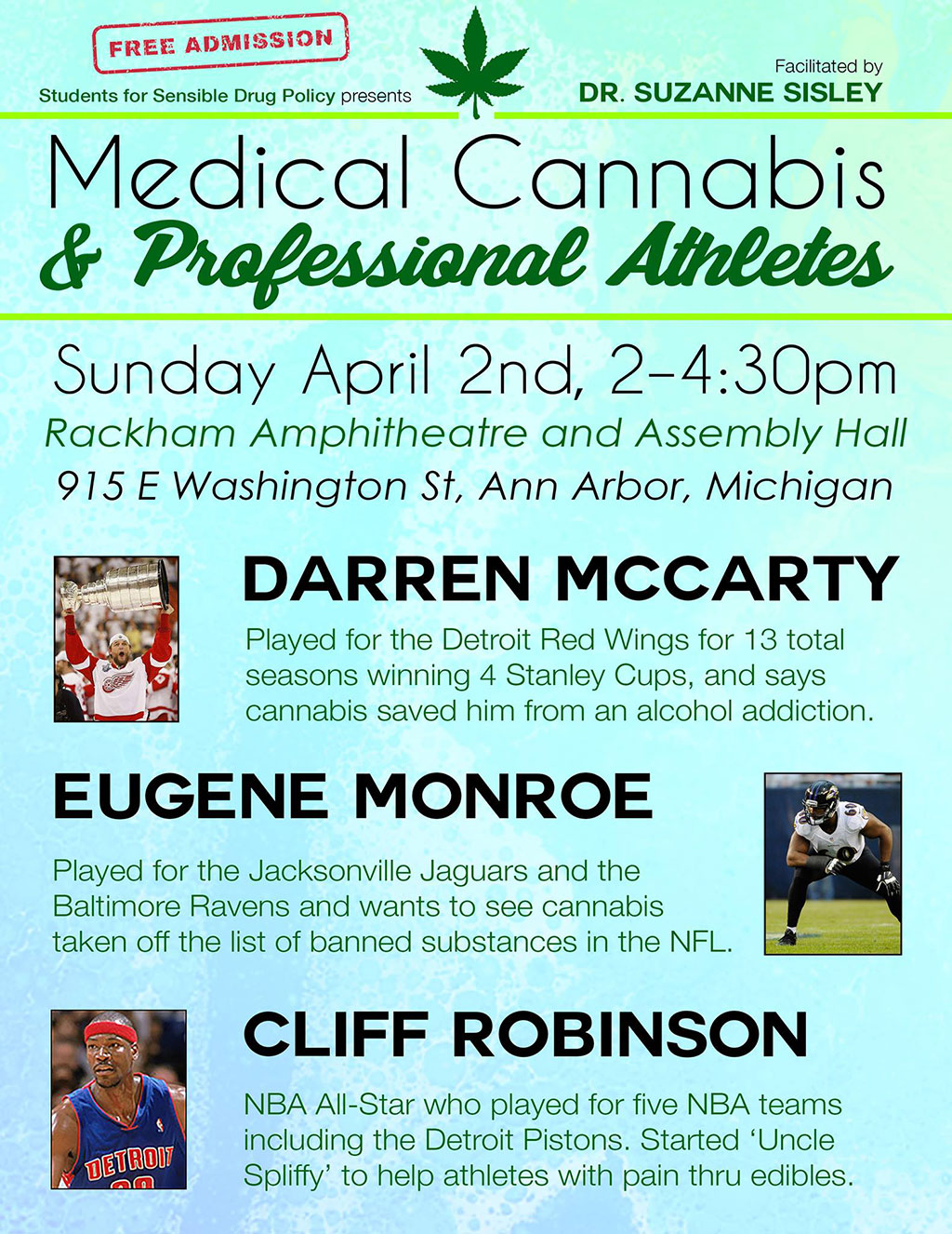 Medical Cannabis Professional Athletes - Darren McCarty, Eugene Monroe, Cliff Robinson