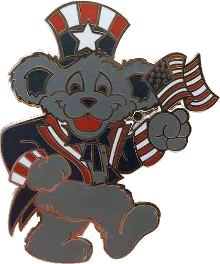Bear with Flag Pin